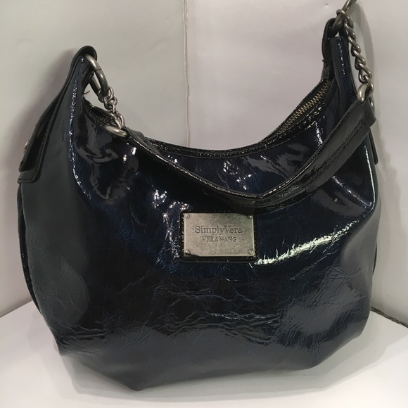 5c1c1777b6ce ❤️Simply Vera Vera Wang Blue Metallic Hobo Bag